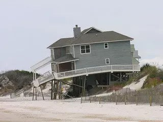 Falling house built on sand