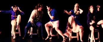 From left: Jaclyn Zaltz, Michael Bedford,Liam Morris, Laura Anne Harris, Erin Fleck