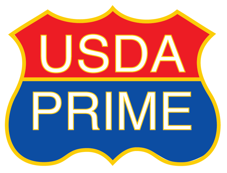 An image of the USDA prime beef logo