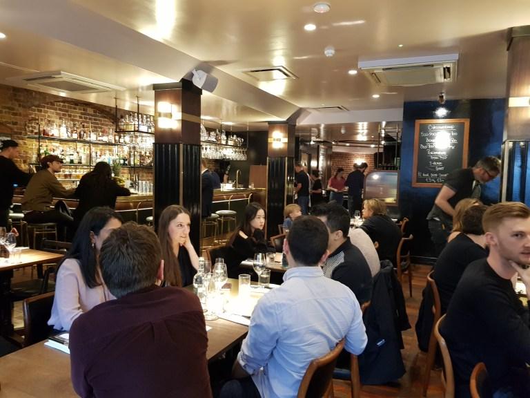 The refurbished interior in Hawksmoor Spitalfields