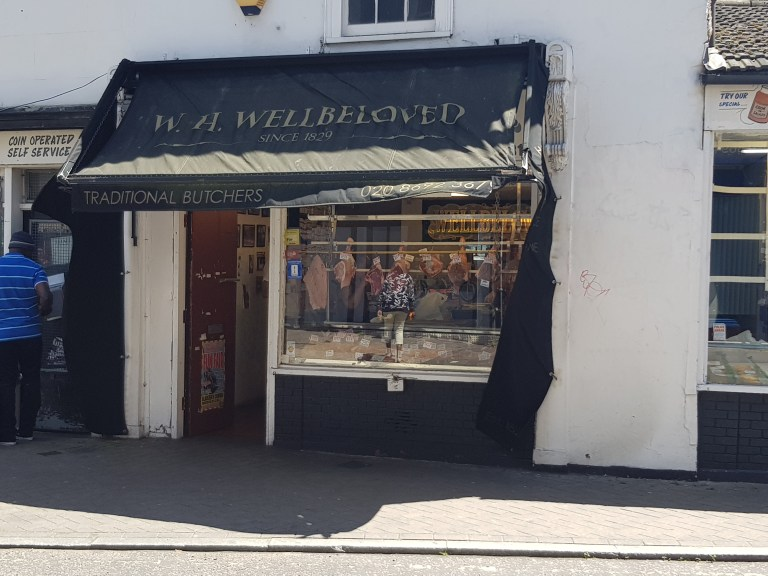 An image of the storefront of W H Wellbeloved