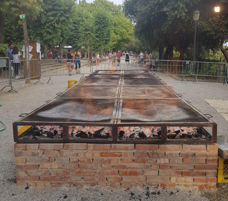 The grill at Sagra della Bistecca