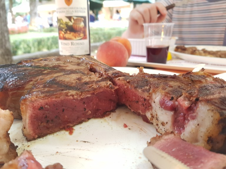 An image of how my cooked was steak at Sagra della Bistecca