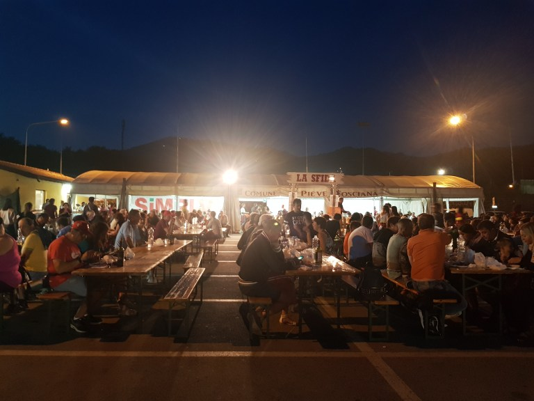 An image of the scene at Festa della Bistecca