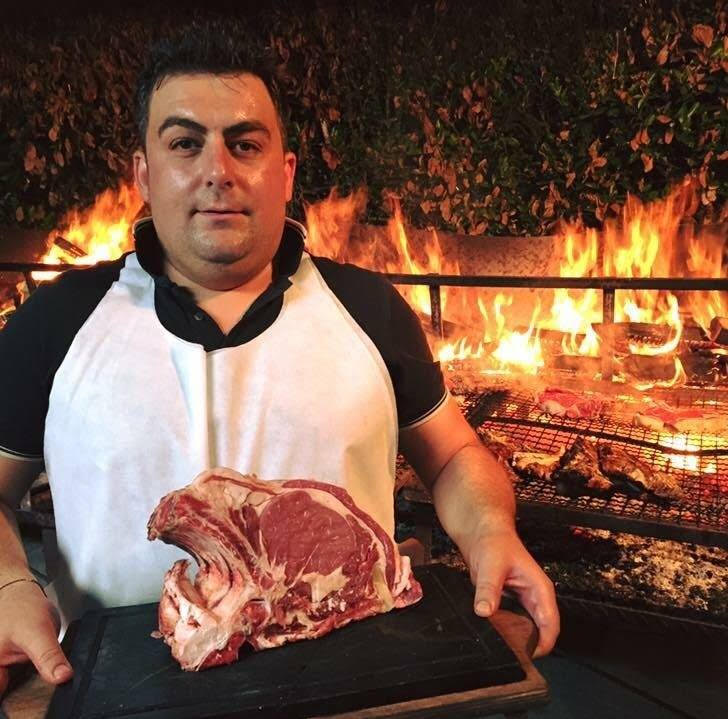 An image of Diego Pioli who supplies the steak to Festa della Bistecca