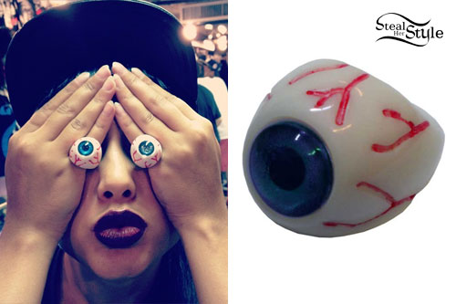 Natalia Kills: Plastic Eyeball Rings