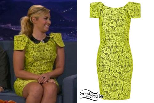 Demi Lovato: Conan O'Brien Dress