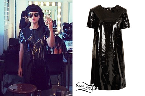 Natalia Kills: Patent Leather Shift Dress