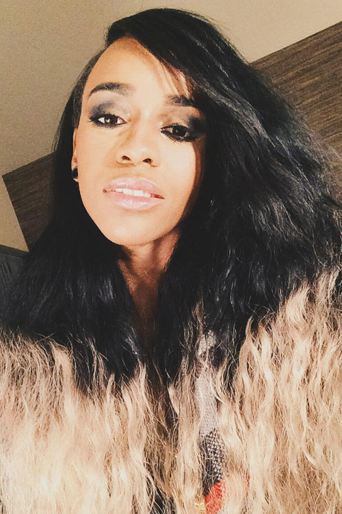 Angel Haze Wavy Black Dip Dyed Two Tone Hairstyle Steal