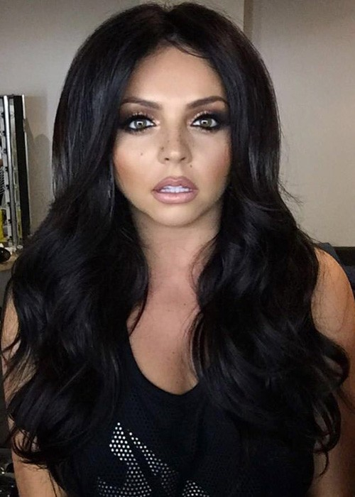 Jesy Nelson Wavy Dark Brown Long Layers Hairstyle Steal