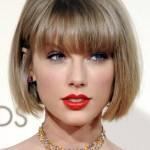 Taylor Swift Straight Medium Brown Bob Choppy Bangs