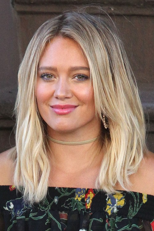 Hilary Duff Straight Light Brown All Over Highlights