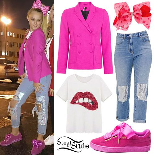 JoJo Siwa Pink Blazer Ribbon Shoes Steal Her Style