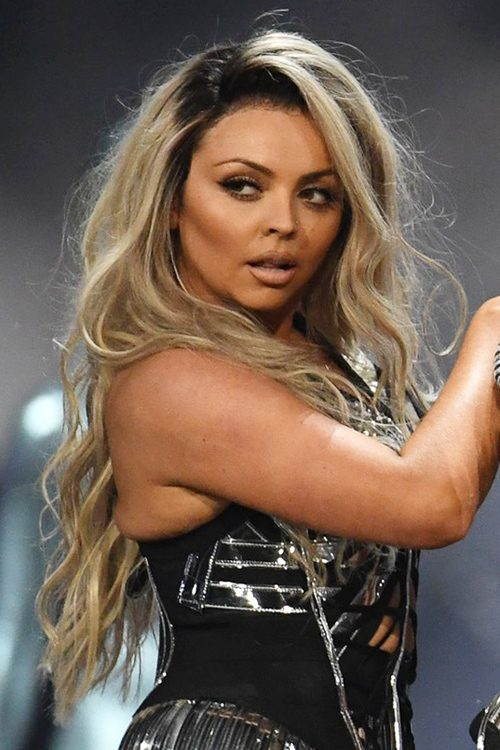Jesy Nelson Wavy Light Brown Dark Roots Hairstyle Steal