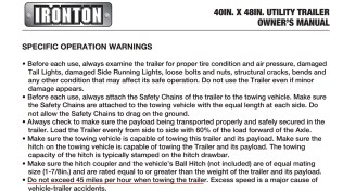 I didn't discuss the tiny trailers sold at Harbor Freight and Northern Tool. But beware of the speed limitations imposed upon these products...