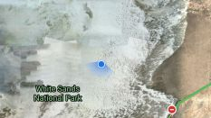 This satellite image shows how far off-road we were...