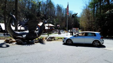 Tail of the Dragon store. This Dragon is made from parts lost along the route.