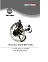 ADI Disc Brake System Owner's Manual