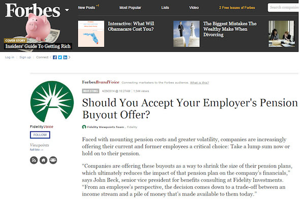 an advertorial example on forbes