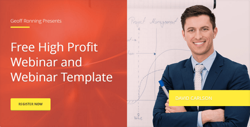 free high profit webinar and webinar template with David Carlson
