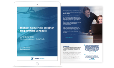 highest converting webinar registration schedule