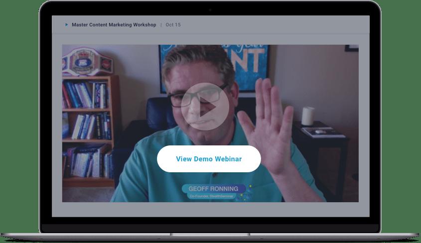 viewing a demonstration of a webinar