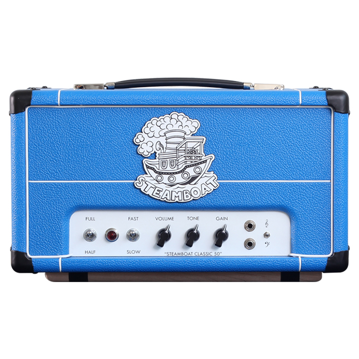 blue steamboat classic 50 amplifie (front view)