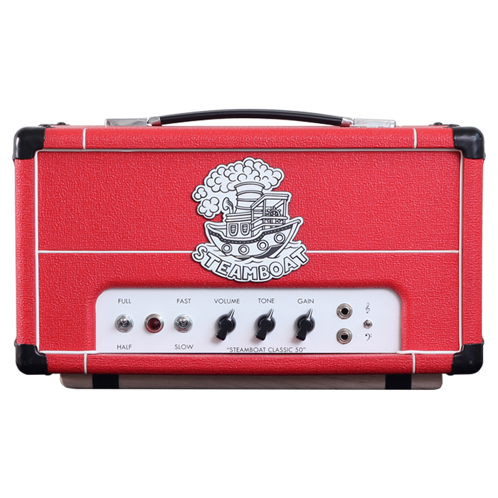 red steamboat classic 50 amplifier (front view)