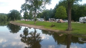 Campground viewed from river