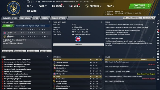Out of the Park Baseball 21 Screenshot 2