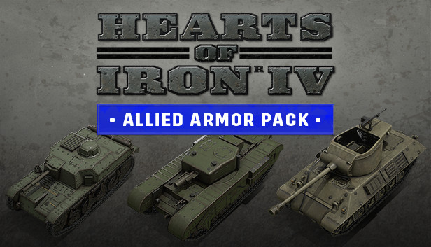Hearts of Iron IV: Allied Armor Pack pe Steam