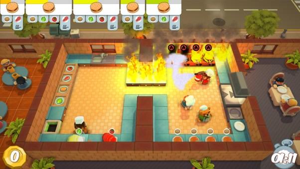 Afbeeldingsresultaat voor overcooked kitchen on fire