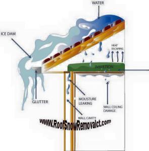 Champaign IL Ice Dam Removal
