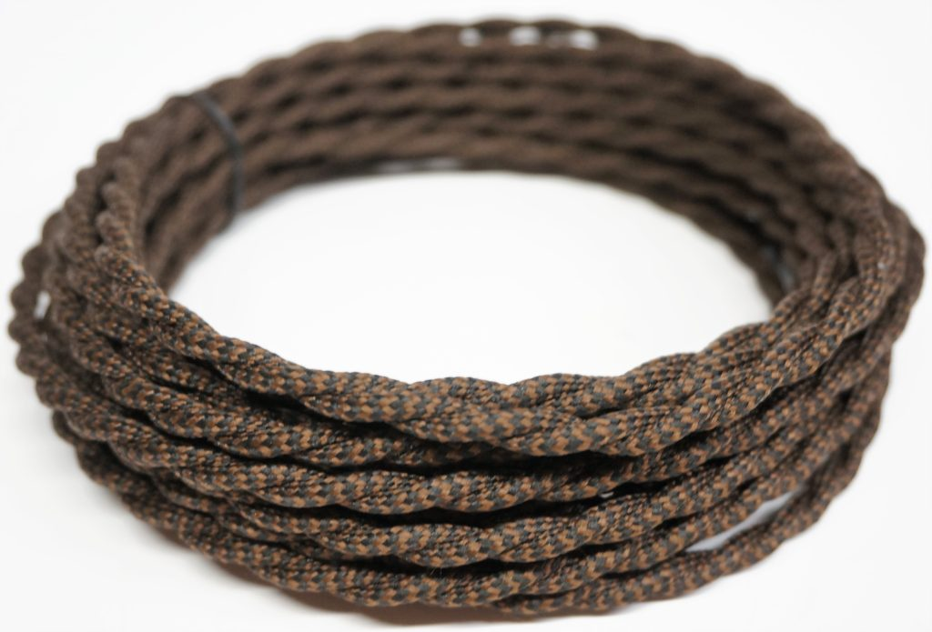 Twisted Rayon Cloth Covered Electric Lamp Cord with Polarized End ...
