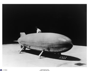 Model of the Navy Airship U.S.S. Akron (10/10/1935)