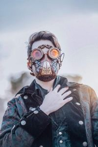 leather Steampunk Face mask 3