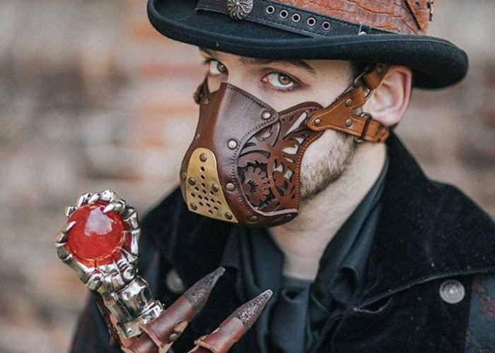 leather Steampunk Face mask 1
