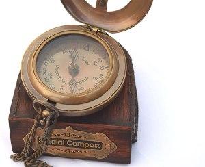 Brass Sundial Compass. 5