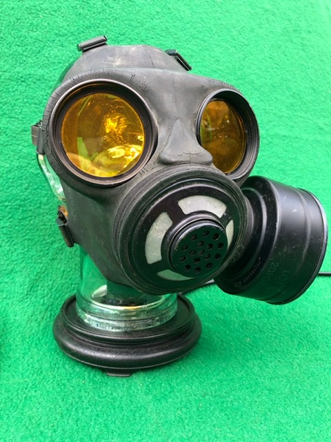 Vintage Steampunk Gas Mask Lamp 2