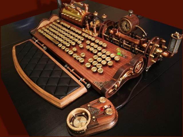Steampunk  PC Keyboard and Mouse. 1