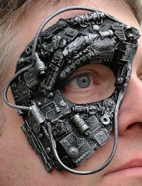 Steampunk, cyborg, or borg mask 1