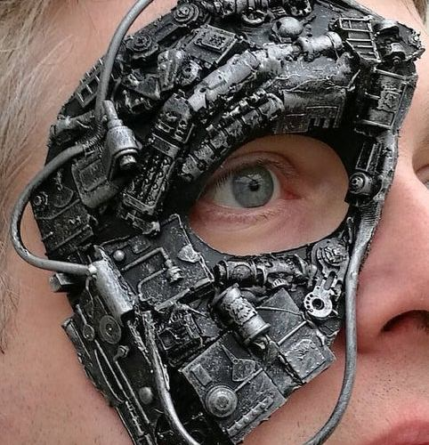 Steampunk, cyborg, or borg mask 1