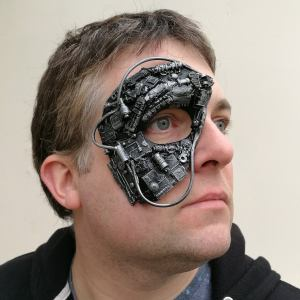 Steampunk, cyborg, or borg mask 3