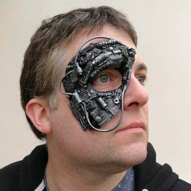 Steampunk, cyborg, or borg mask 3