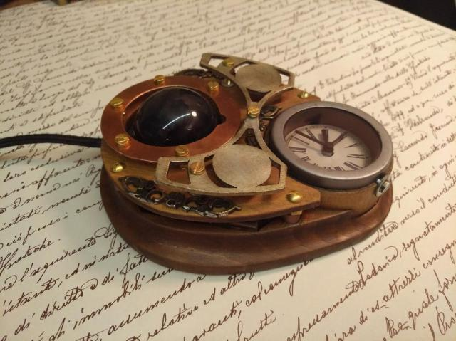 Steampunk trackball mouse 3