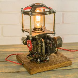 Industrial Steampunk Lamp. Created and sold by Zero Lab Studio.