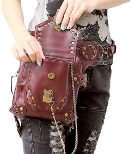 A unisex multipurpose steampunk mail style bag/purse. 2