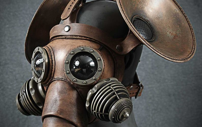 Pachydermos steampunk dieselpunk gas mask