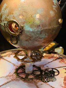 Jules Verne Steampunk Inspired Tellurian Orrery Solar System Orbiter Model 2