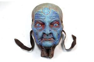 SHINN ANASTASIA. Blue face wall sculpture by Tomas Barcelo. 1
